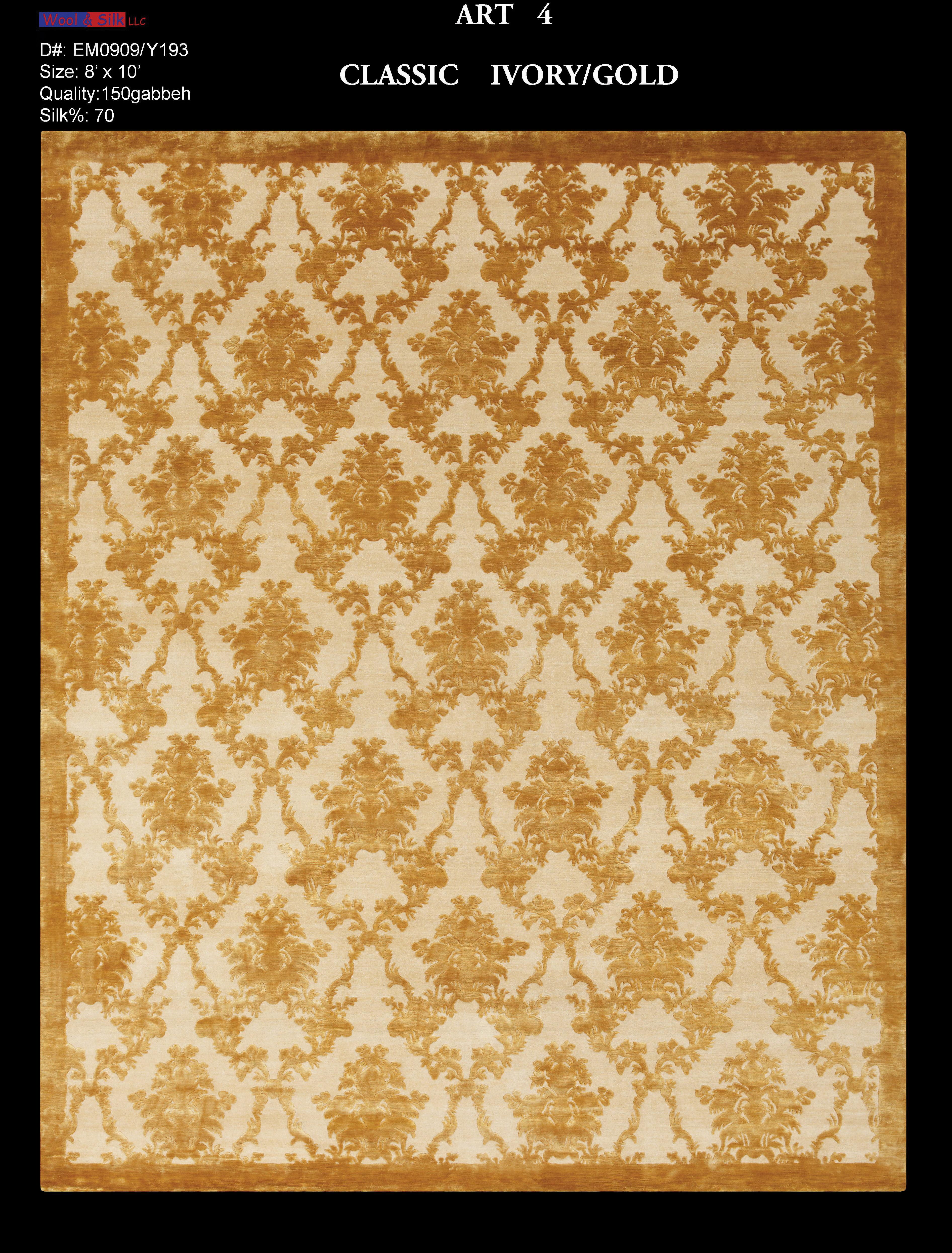 Classic-Ivory-Gold(EM0909-Y193) 8'x10'