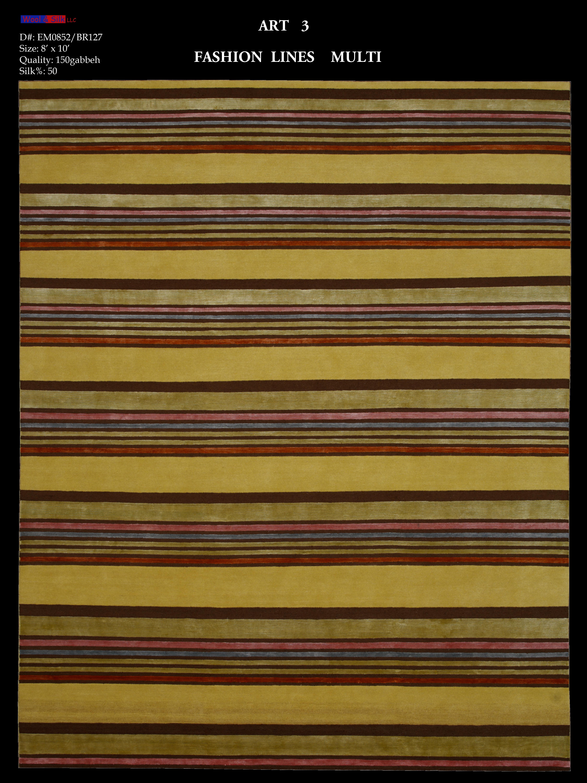 Fashion Lines-Multi(EM0852-BR127 loop) 8'x10'