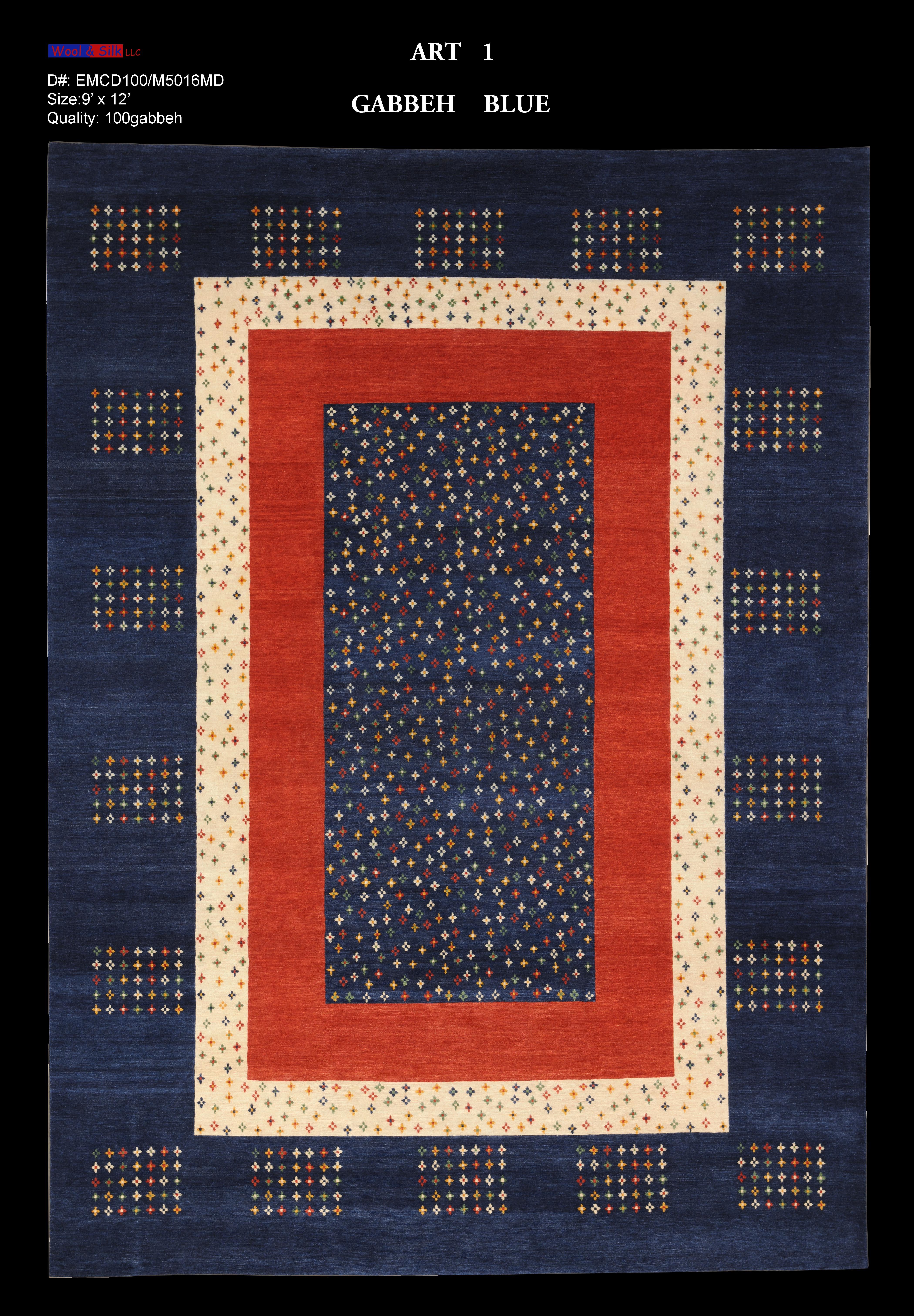 Gabbeh-Blue(EMCD100-M5016) 9'x12'