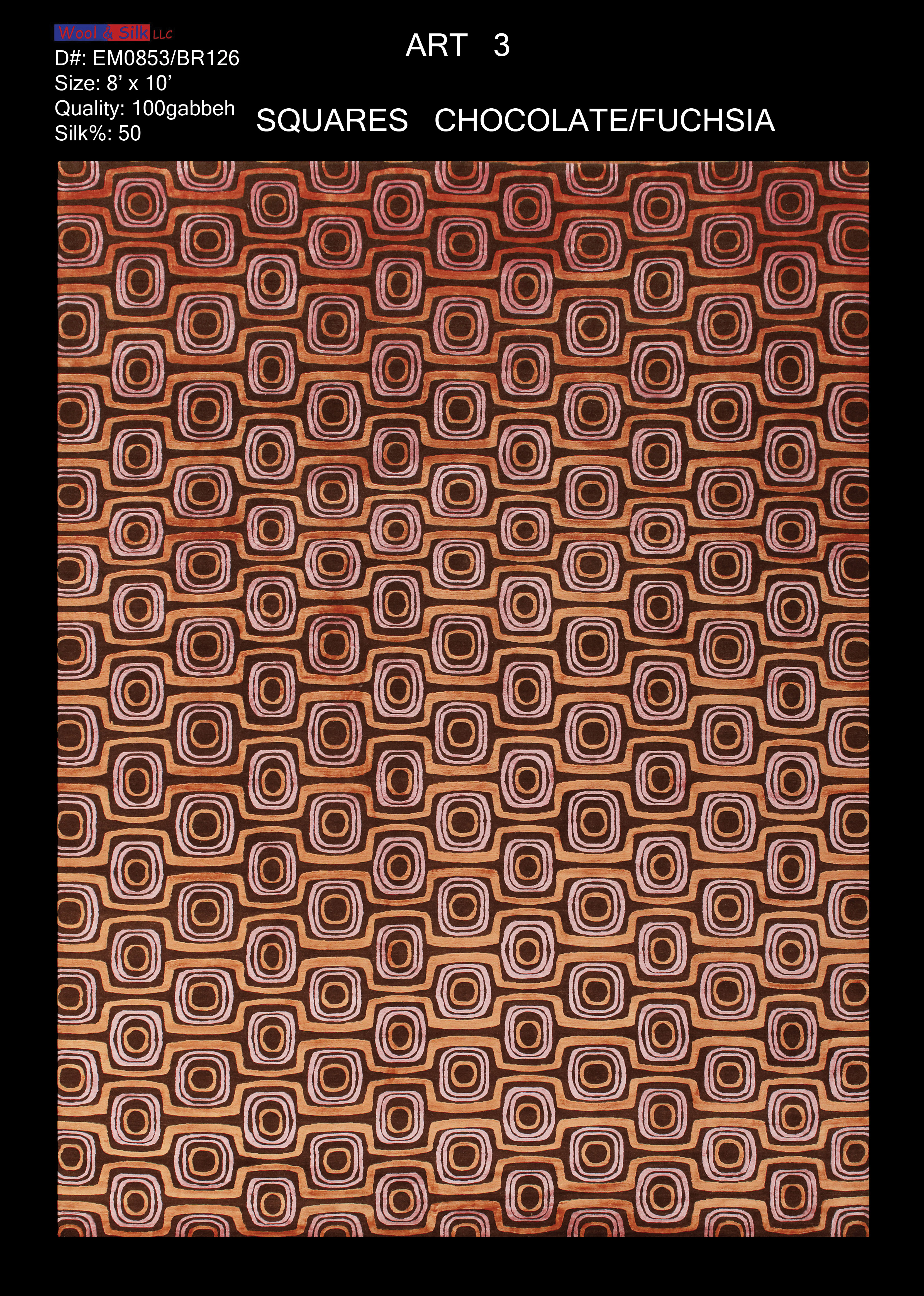 Square-Choc.-Fuchsia(EM0853-BR126) 8'x10'