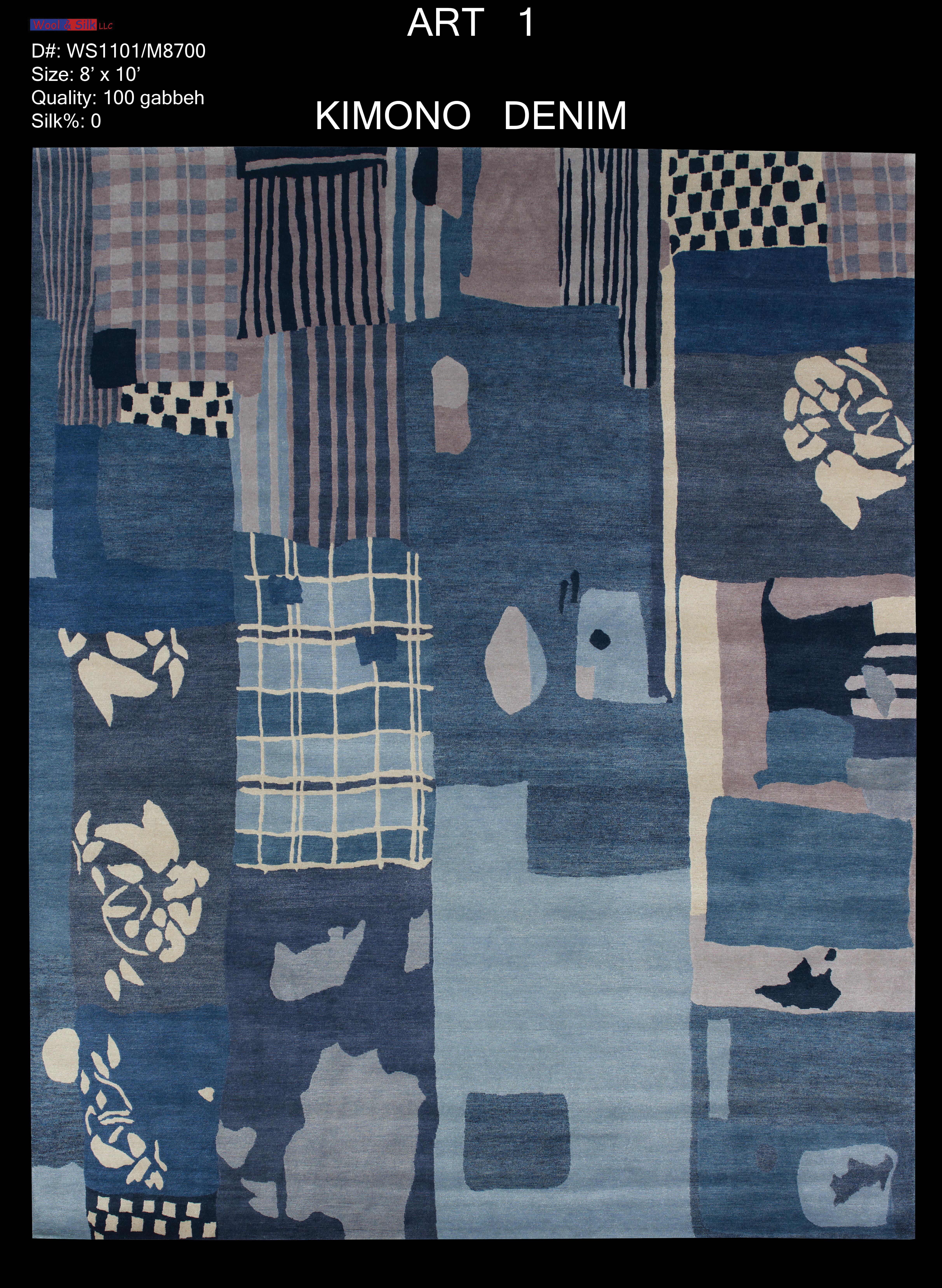Kimono-Denim(WS1101-M8700) 8'x10'