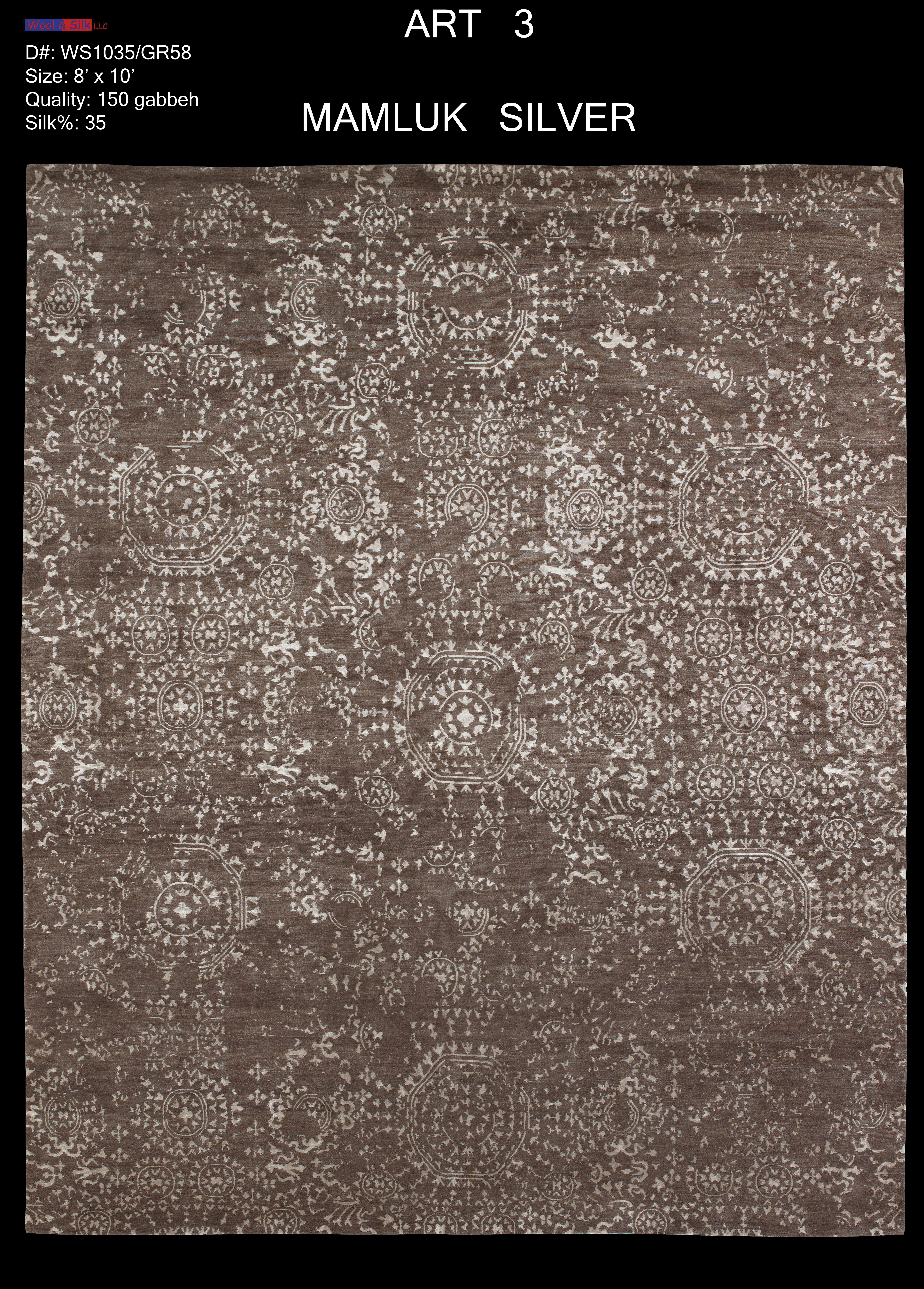 Mamluk-Silver(WS1035-GR58) 8'x10'