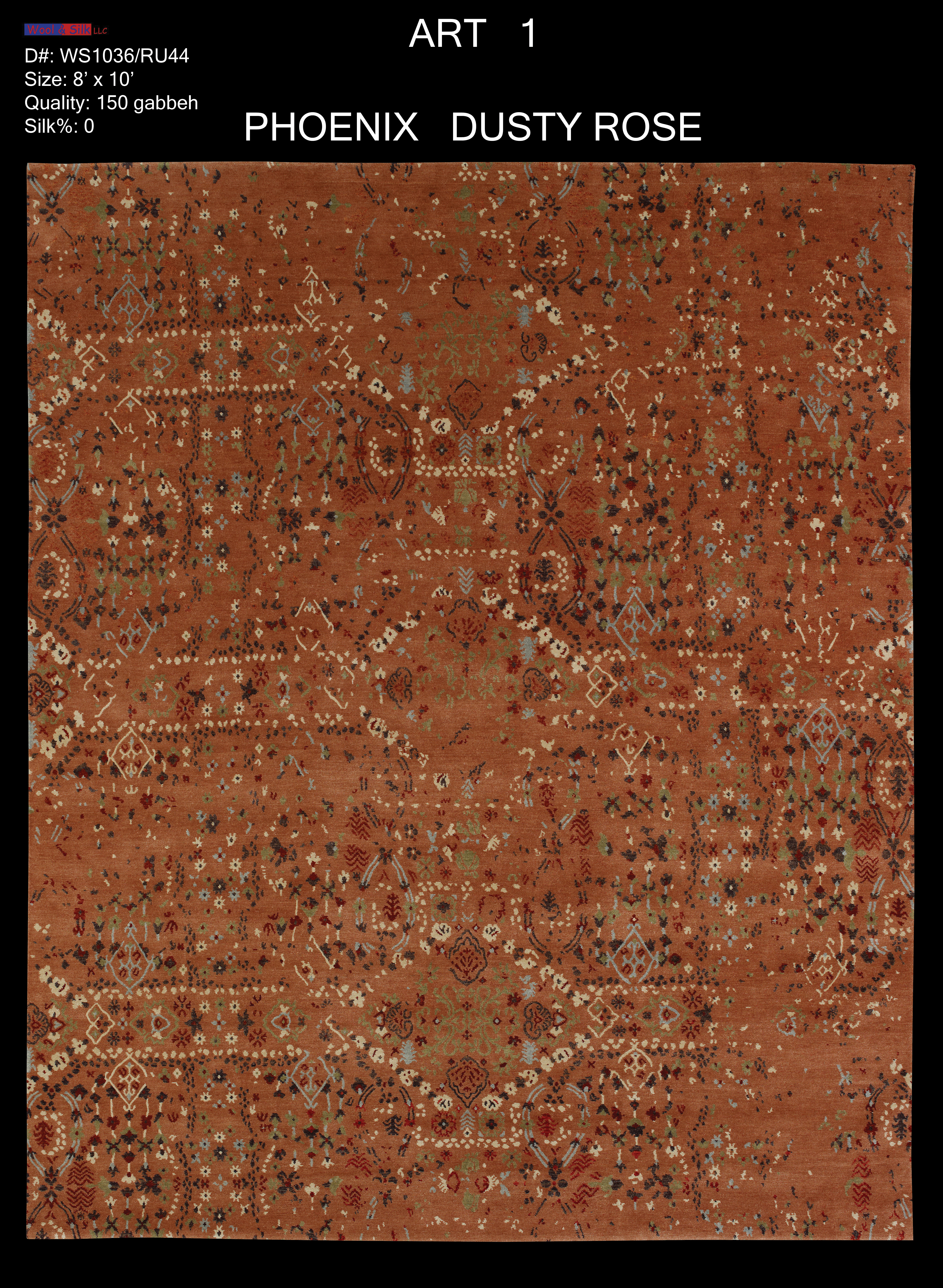 Phoenix-Dusty Rose(WS1036-RU44) 8'x10'