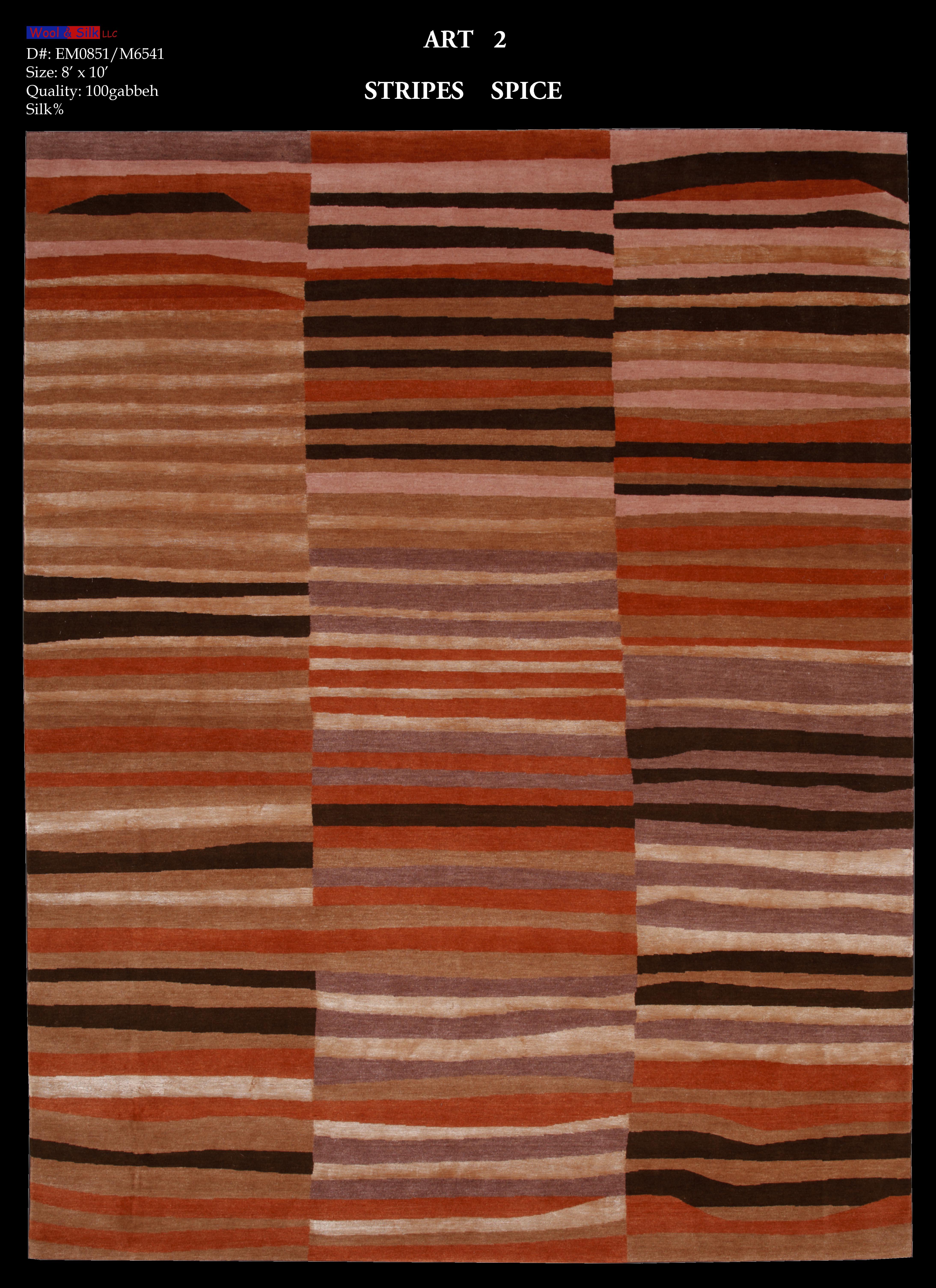 Stripes-Spice(EM0851-M6541) 8'x10'