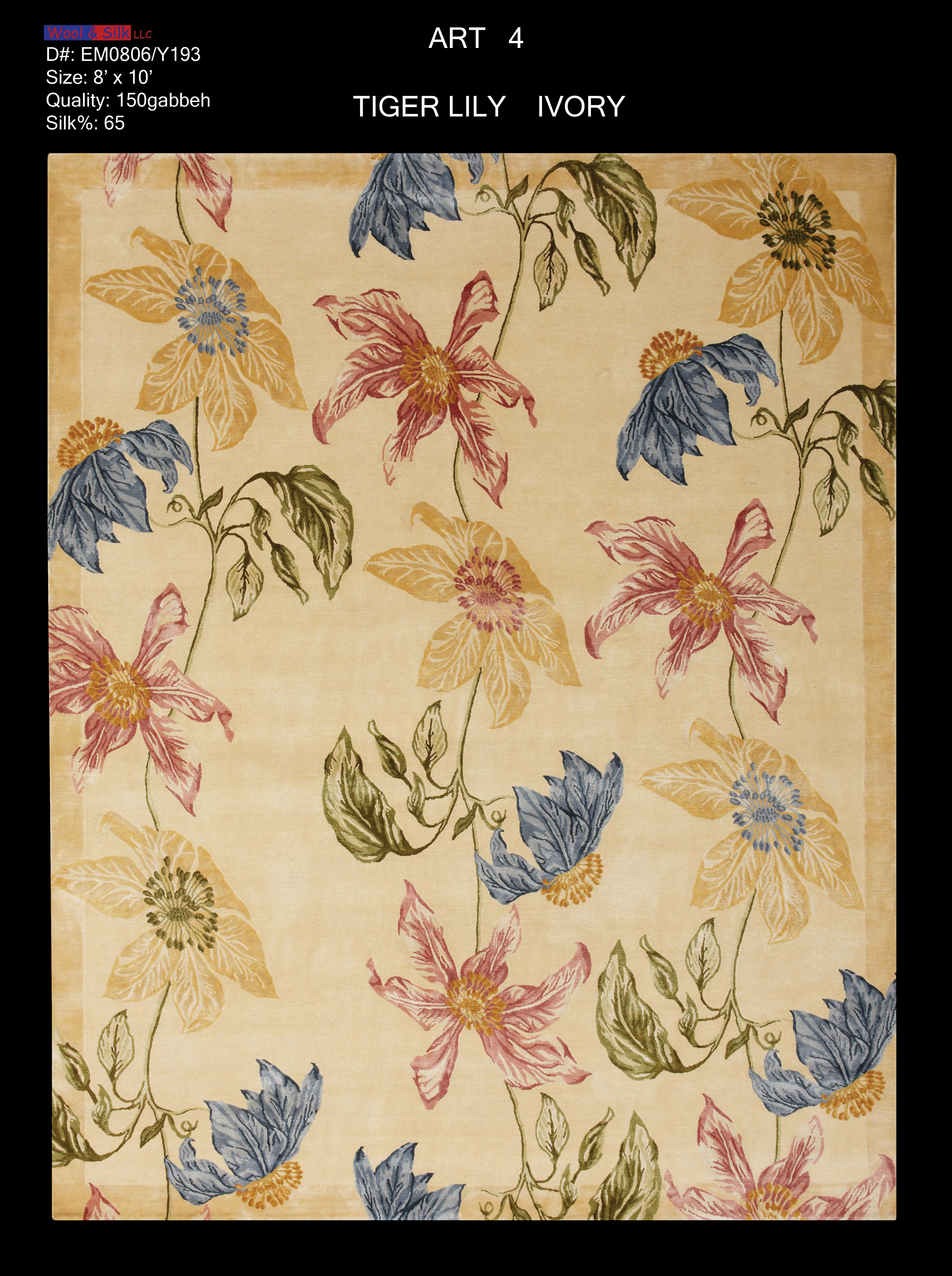 Tiger Lily-Ivory(EM0806-Y193) 8'x10'