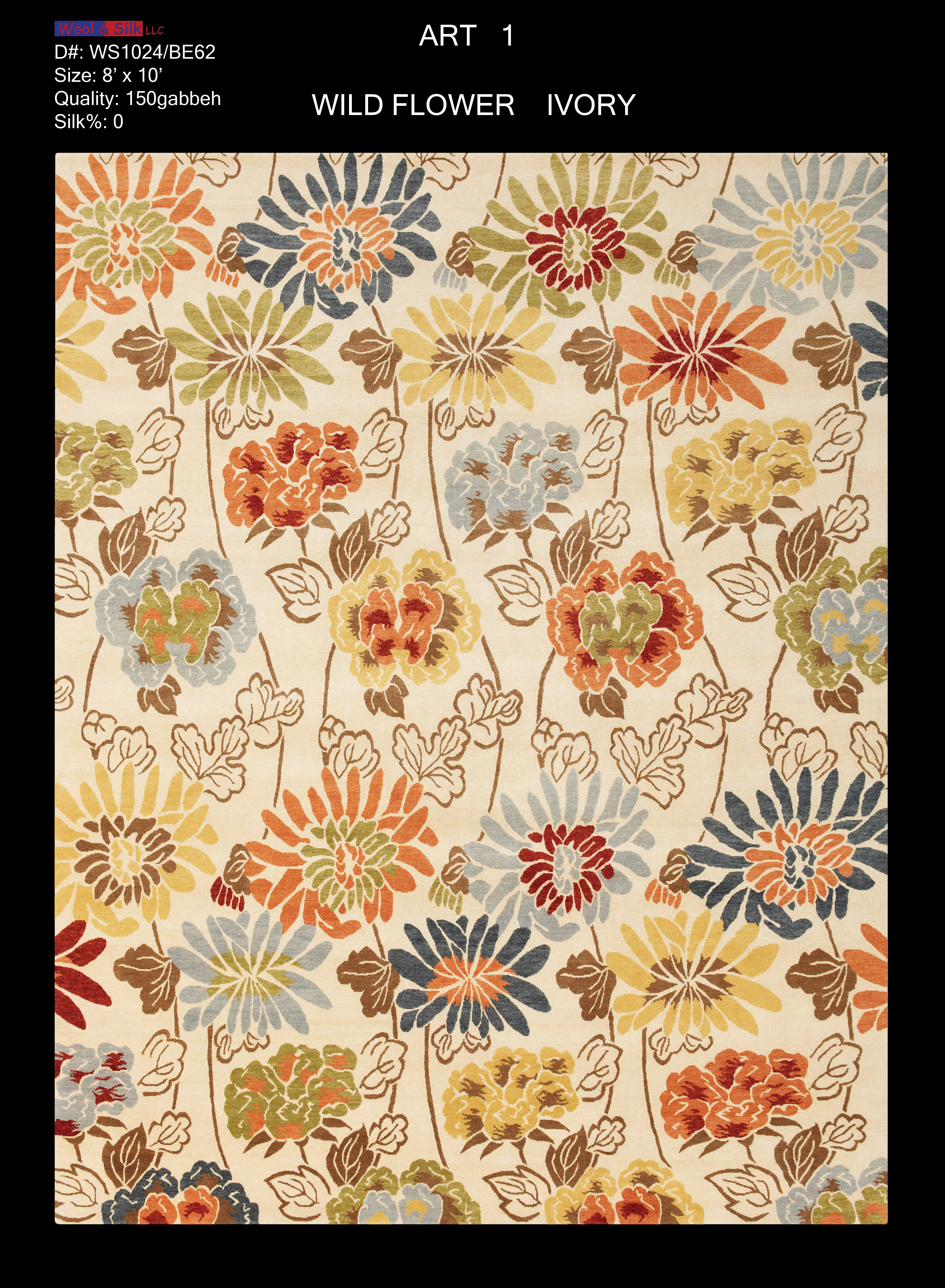 Wild Flower-Ivory(WS1024-BE62) 8'x10'