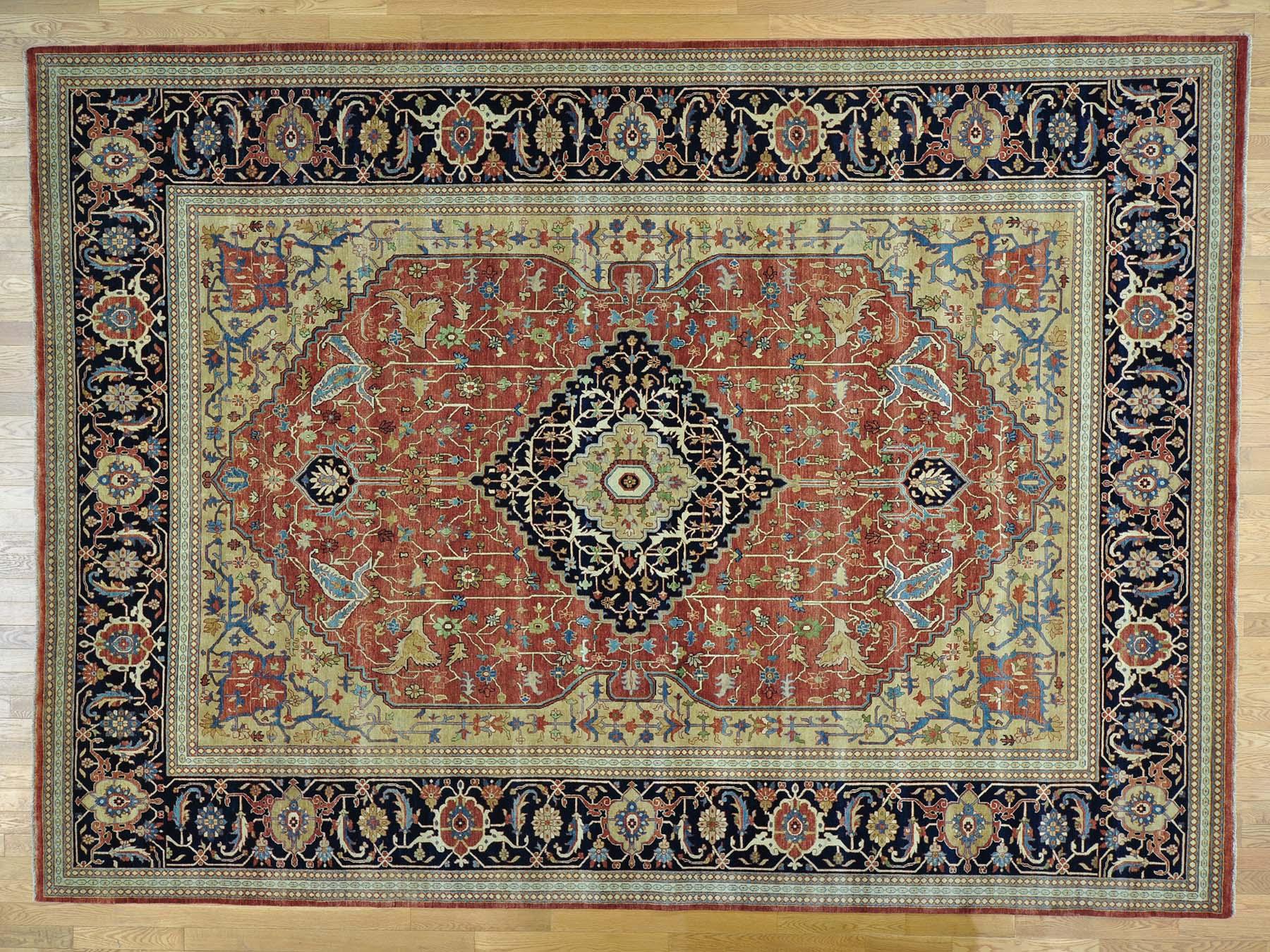 10 1 X 13 Antique Reproduction Sarouk Fine Wool Handmade Oriental Rug