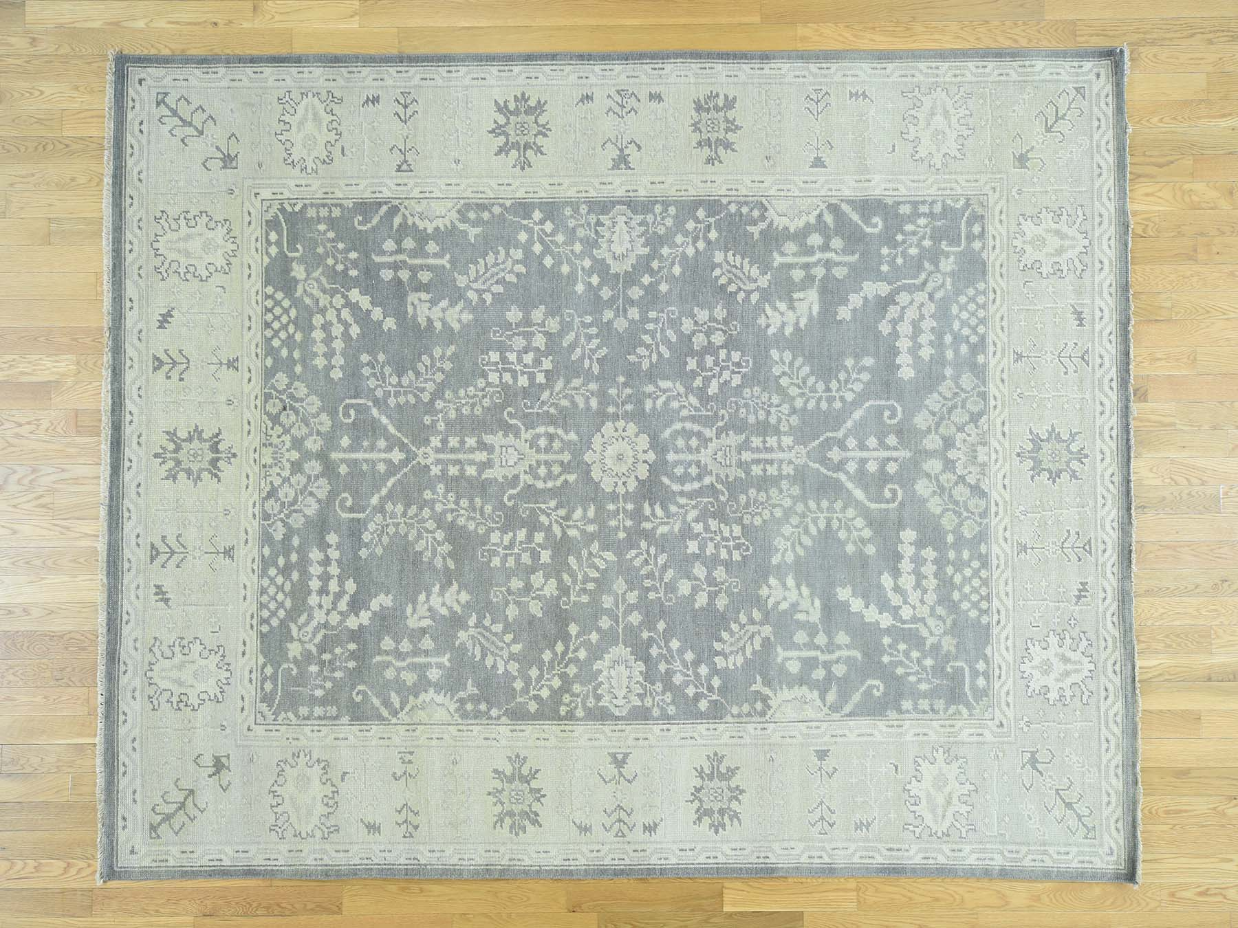 8 0 X 10 0 Hand Knotted Oushak Thin Pile Pure Wool Oriental Rug