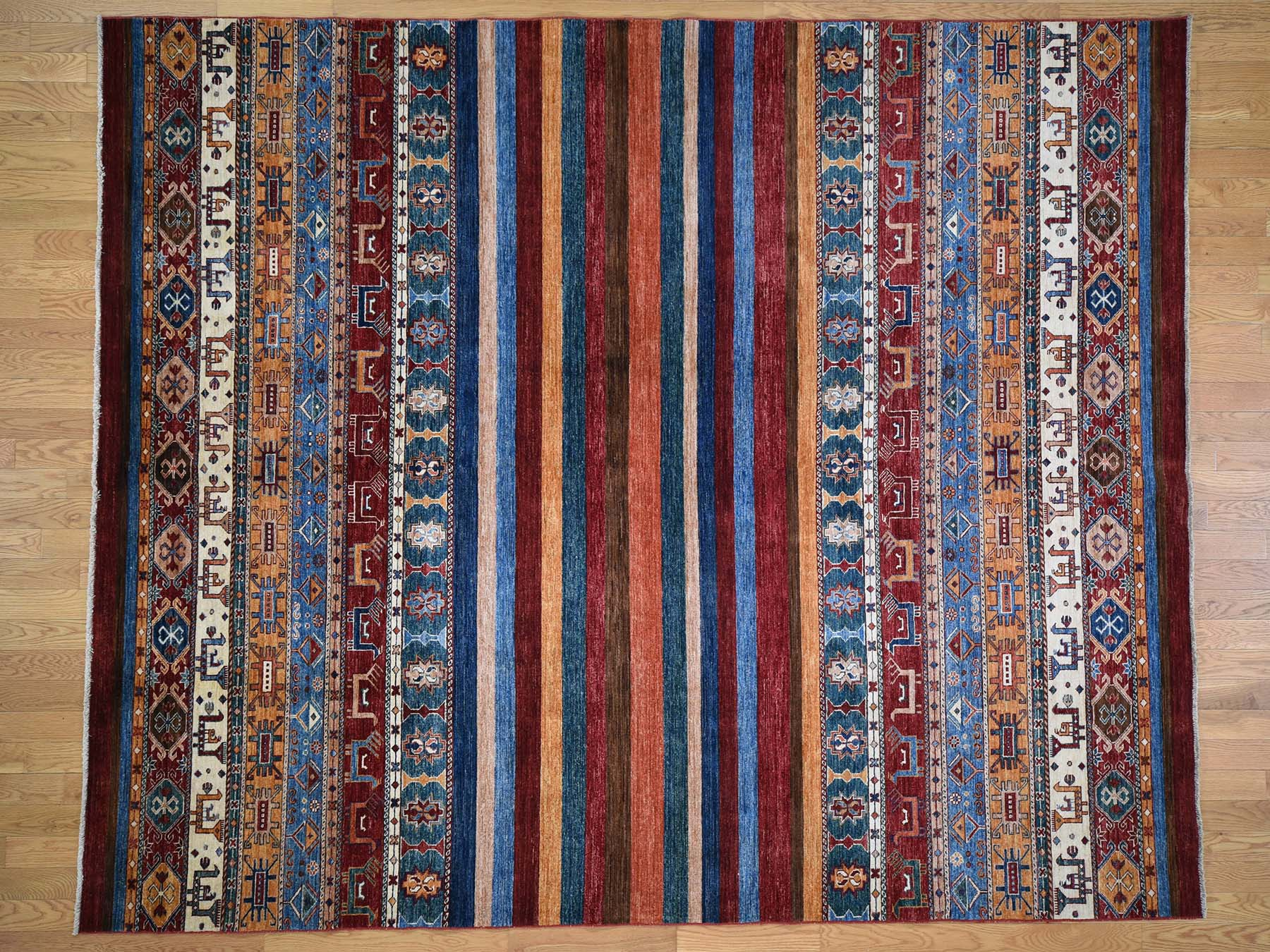 8 3 X10 Super Kazak Khorjin Design Hand Knotted Pure Wool Rug
