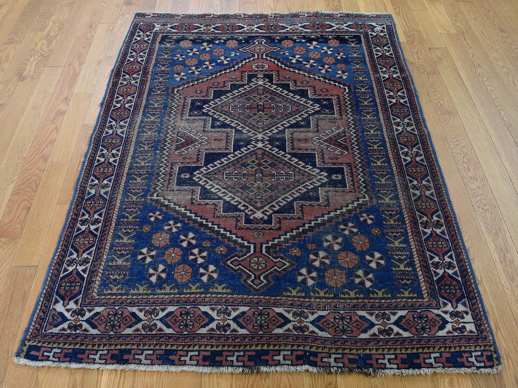 4 X5 6 Antique Caucasian Kazak With Geometric Design Even Wear Clean Oriental Rug